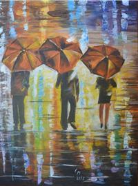 Tři v dešti