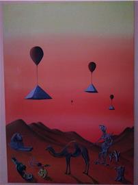 Surrealist desert