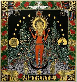 Dámský šátek s motivem bohyně Astarté